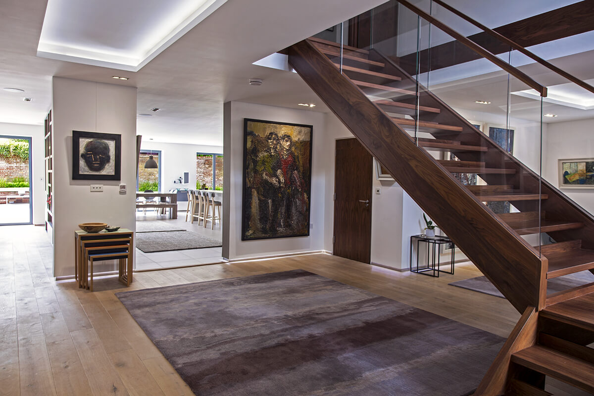 EB Architecture completed project on Rothamsted Avenue interior stairway