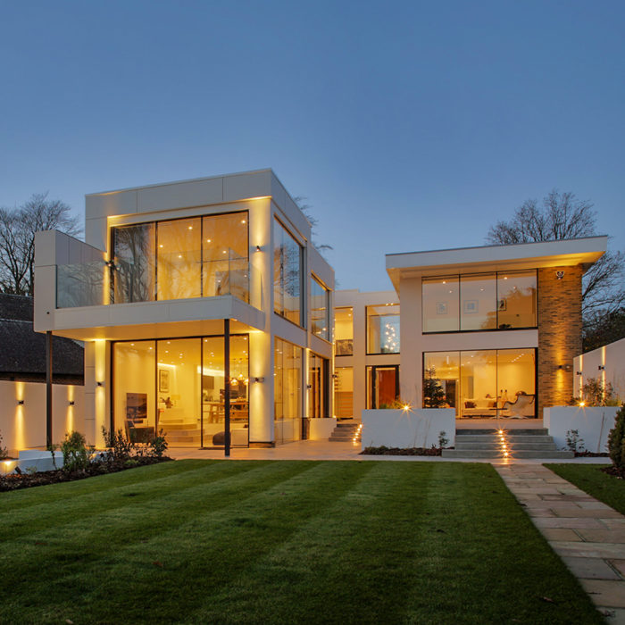 EB Architecture Blackmore Way property from the garden